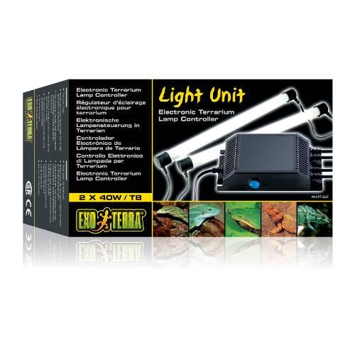 Unidad controladora electrónica de luz para terrario