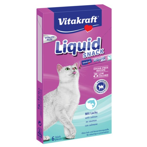 Vitakraft Liquid Snack de salmón con Omega 3