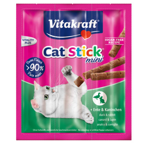 Vitakraft Mini barritas para gatos con pato y conejo 3uds