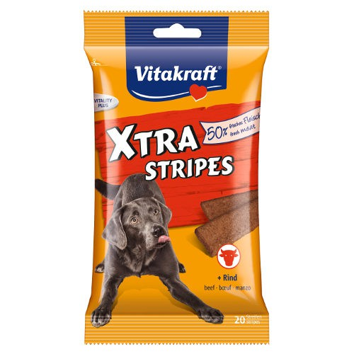 Vitakraft Xtra Stripes snacks para perros en tiras de carne
