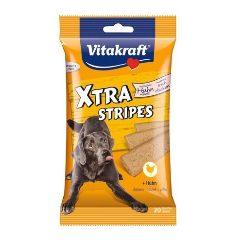 Vitakraft Xtra Stripes snacks para perros en tiras de pollo