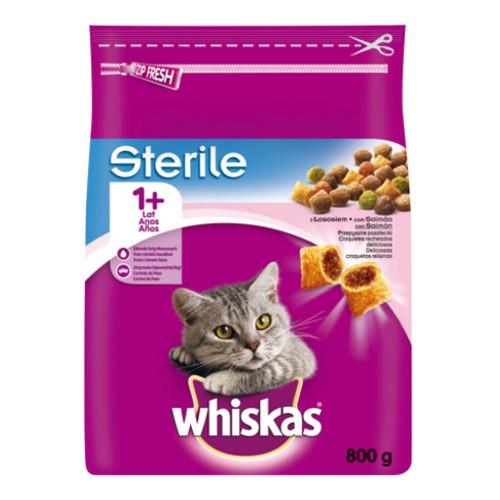 Whiskas Sterile pienso para gatos con salmón