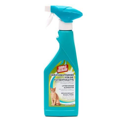 Eliminador de olores Simple Solution para bandeja de gatos