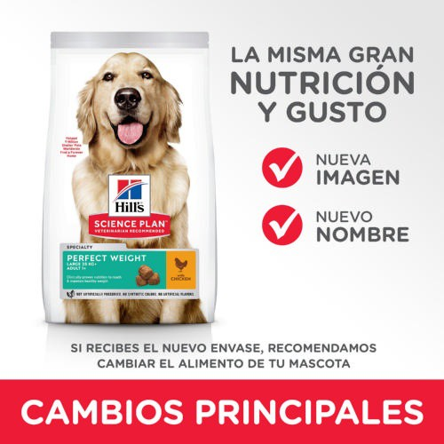 Hill's Science Plan Perfect Weight Canine Large Breed pienso para perros