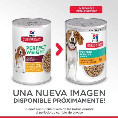 Hill's Science Plan Perfect Weight Canine Lata de alimento húmedo para perros