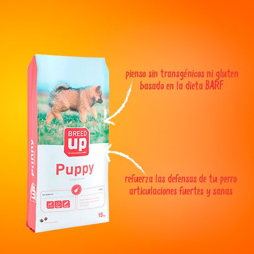 Pienso súperpremium Breed Up Puppy Large para cachorros de razas grandes