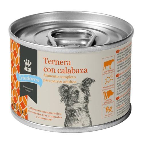 Alimento húmedo para perros Criadores ternera con calabaza