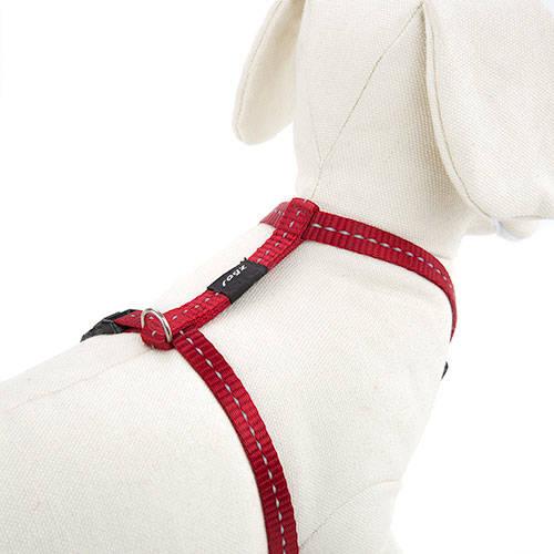 Arnés para perros Rogz Utility rojo con costura reflectante