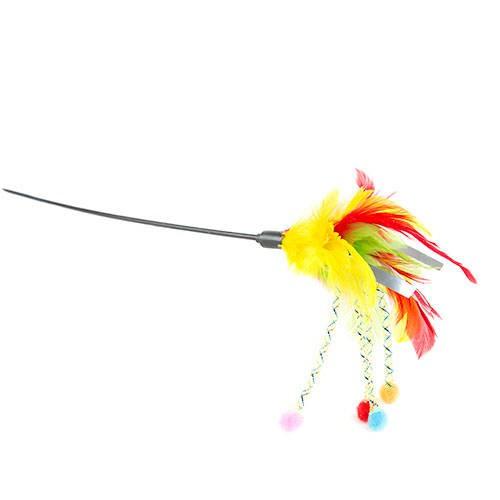 Juguete para gatos Irresistible caña con plumas