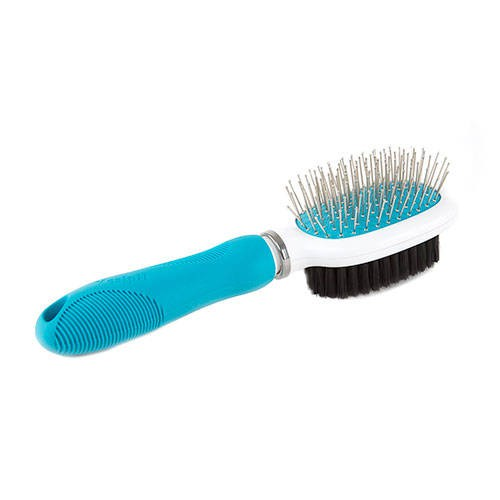 Yes!pH 2-in1 dog brush with finished metal bristles