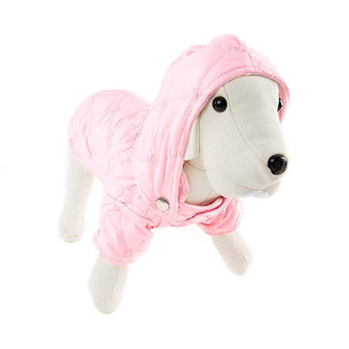 Chaqueta acolchada color rosa