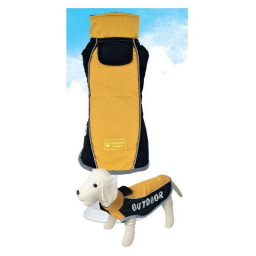 Chaqueta impermeable para perro Outdoor color mostaza