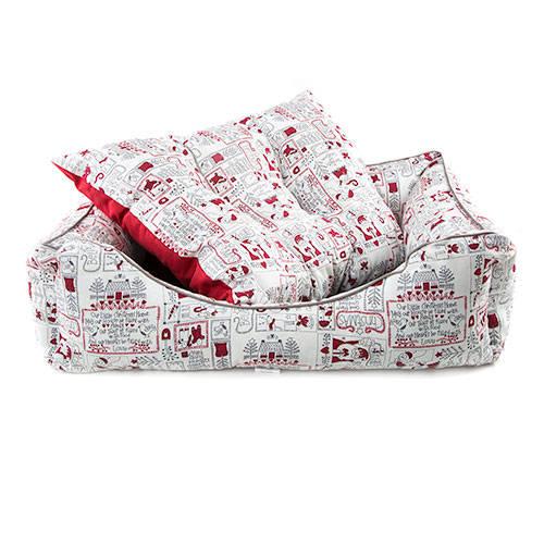 Cama para perros y gatos TK-Pet Christmas Home tipo cuna mullida