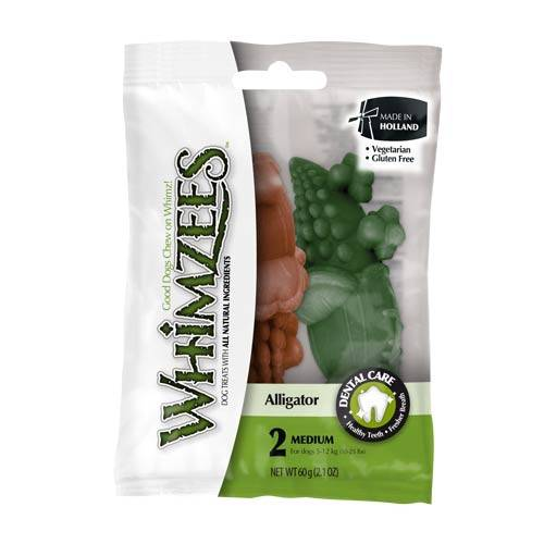 Snacks para perros medianos Whimzees cocodrilo dental