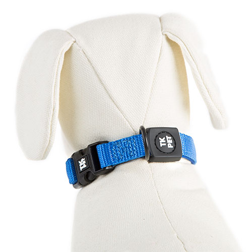 Collar para perros tk pet neo classic azul de nylon y for Nylon para estanques