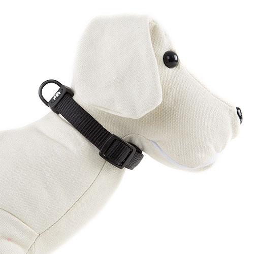 Collar para perros TK-Pet Neo Classic negro de nylon y neopreno