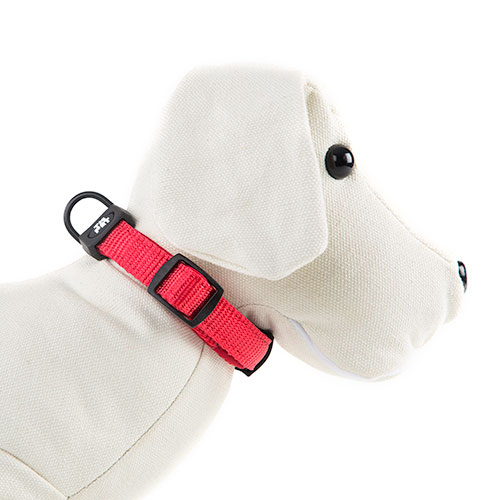Collar para perros tk pet neo classic rojo de nylon y for Nylon para estanques