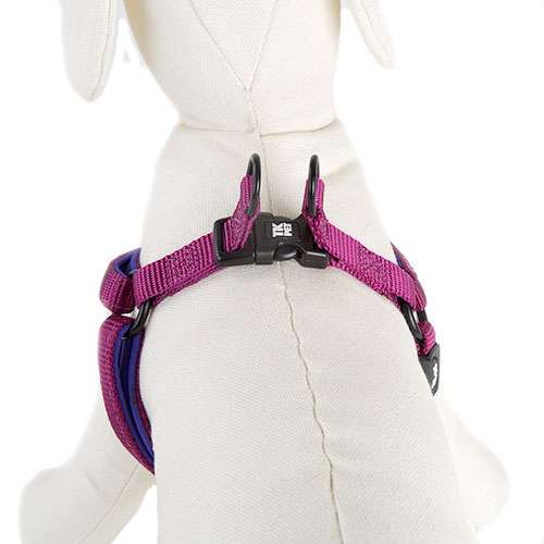 TK-Pet Neo Classic Nylon and neoprene purple harness for dogs
