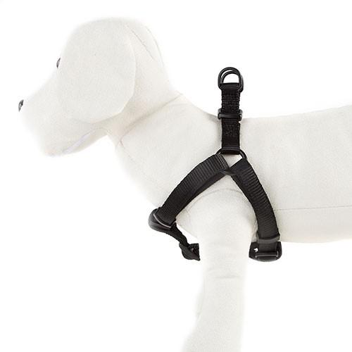 Arnés para perros TK-Pet Neo Classic negro de nylon y neopreno
