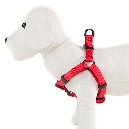 Arnés para perros TK-Pet Neo Classic rojo de nylon y neopreno