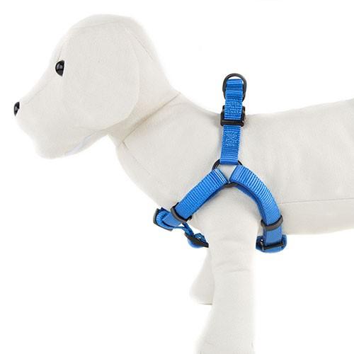 Arnés para perros TK-Pet Neo Classic azul de nylon y neopreno