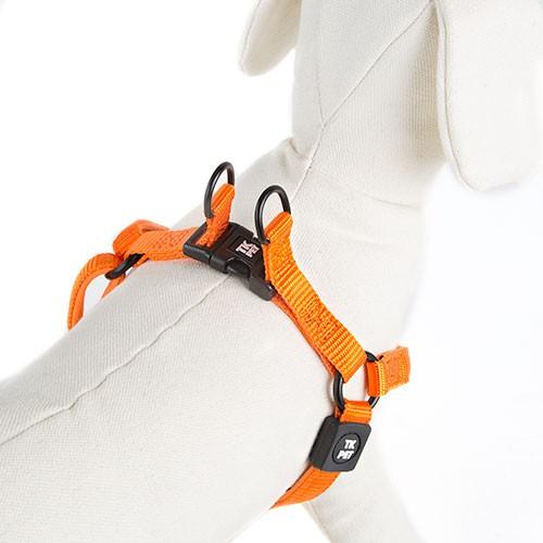 Arnés para perros TK-Pet Neo Classic naranja de nylon y neopreno