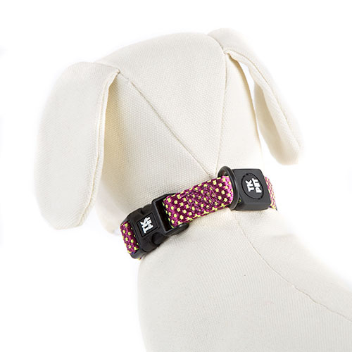 TK-Pet Neo Design Nylon and neoprene purple necklace for dogs