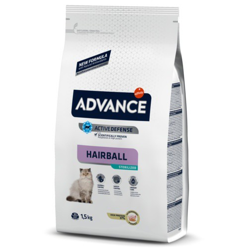 Pienso para gatos esterilizados Advance Sterelized Hairball
