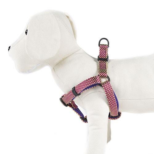 Arnés para perros TK-Pet Neo Design morado de nylon y neopreno
