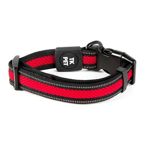 Collar para perros TK-Pet Reflective Comfort rojo