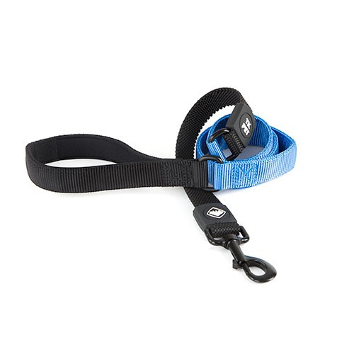 Correa para perros TK-Pet Shock Control azul con asa de neopreno