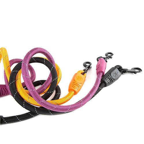 Correa para perros de nylon redondo TK-Pet Reflective Rope negra