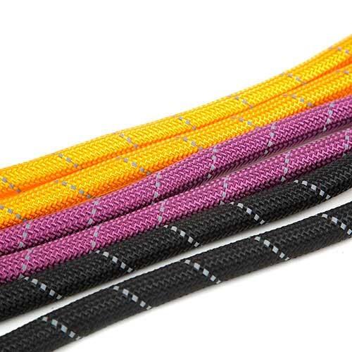 Correa para perros de nylon redondo TK-Pet Reflective Rope negra con asa