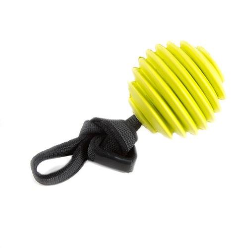 Mordedor para perros TK-Pet Nature Toy pelota de caucho con cuerda