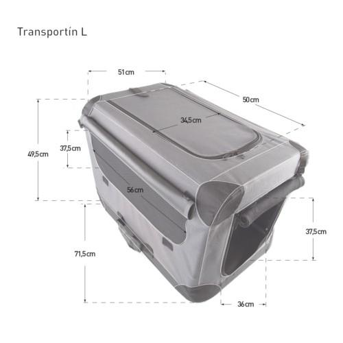 Caseta plegable de tela TK-Pet gris