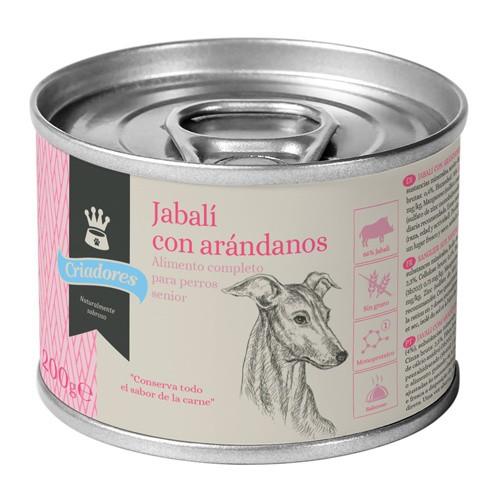 Comida húmeda para perros senior Criadores de jabalí con arándanos