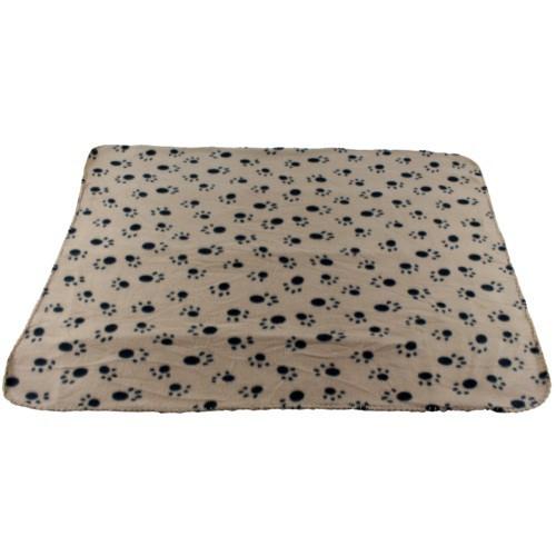 Manta para perros y gatos Arppe gris con huellas