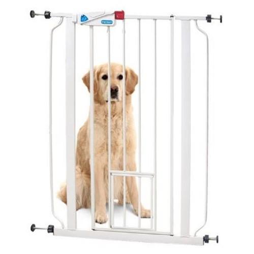 Barrera para perros con puerta gatera