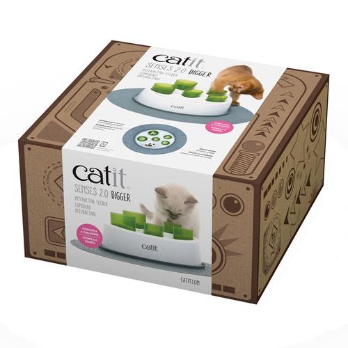 Comedero interactivo para gatos Catit Senses 2.0 Digger