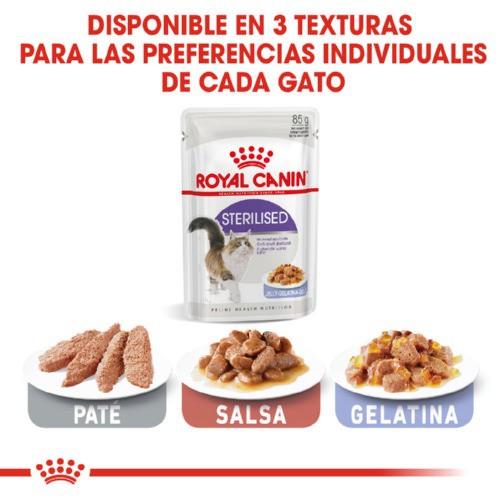 Royal Canin Sterilised comida húmeda en gelatina para gatos