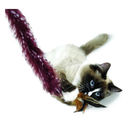 Caña con plumas para gatos extra largas Plume Crazy