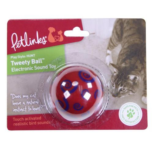 Pelota para gatos con sonido de pájaros Tweety Ball