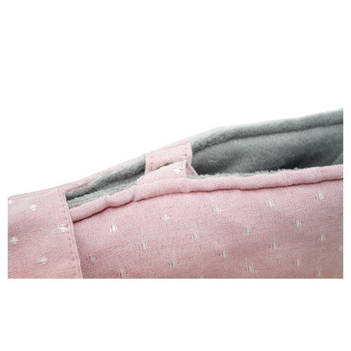 Bolso rosa pastel con interior suave para perros y gatos Sofia