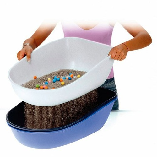 Quick cleaning litter tray