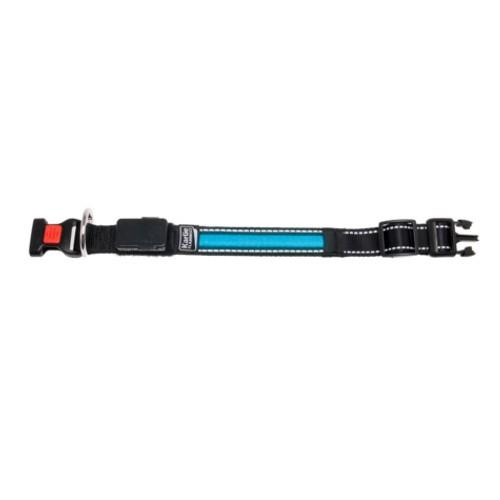 Collar con banda LED azul con cargador USB