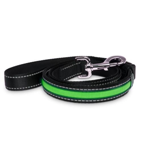 Correa con banda LED verde con cargador USB