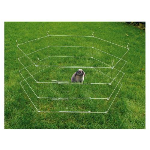 Parque plegable metálico para pequeños animales