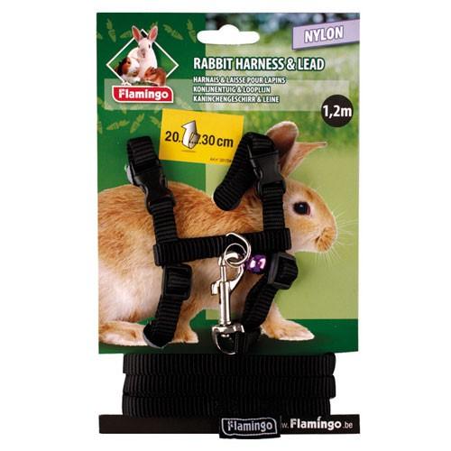 Arnés de nylon con correa para conejos
