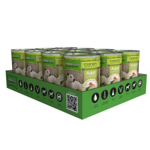Comida húmeda natural con pollo para perros Natures Menu Adult
