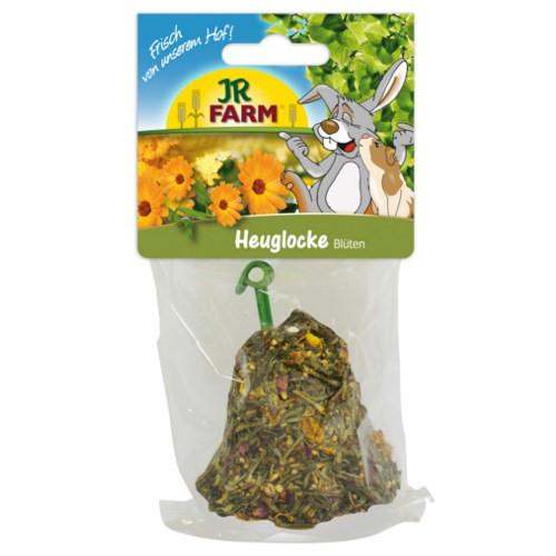 Snack campana de heno con flores JR Farm para roedores y conejos